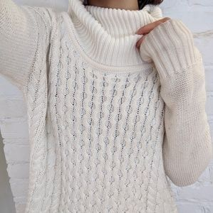 NEW knitted cream turtleneck sweater
